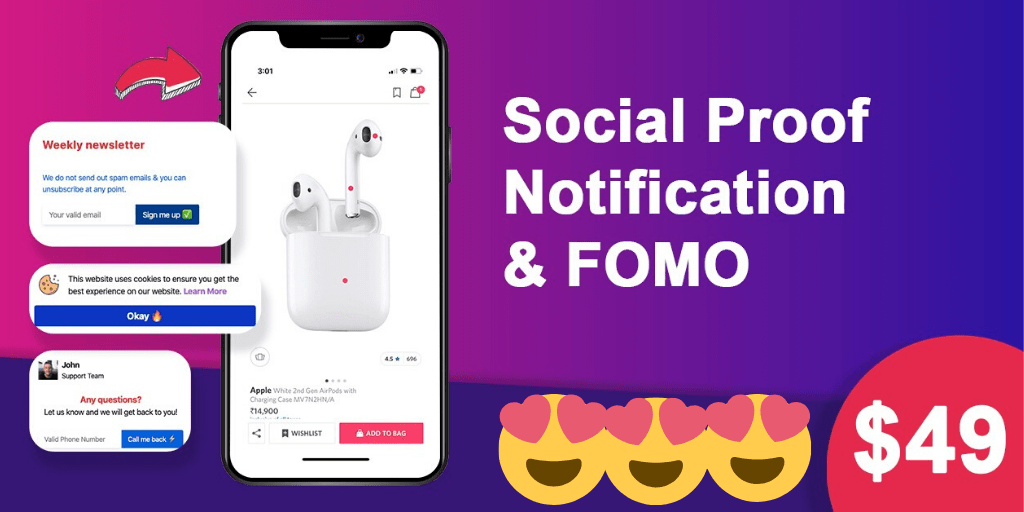 Social proof notification